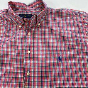 Ralph Lauren Shirts - Polo Ralph Lauren Big Shirt Oxford Pink Plaid 2XB
